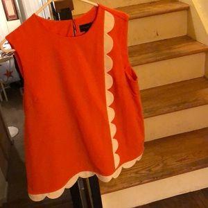 Victoria Beckham for Target orange and cream top
